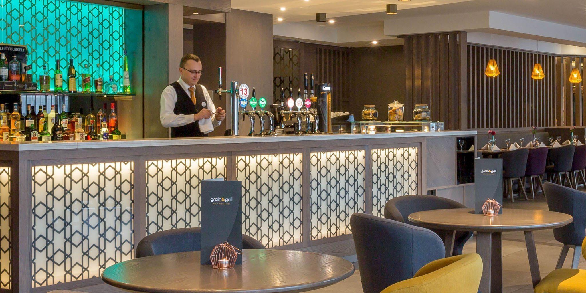 Barman serving at Maldron Belfast City
