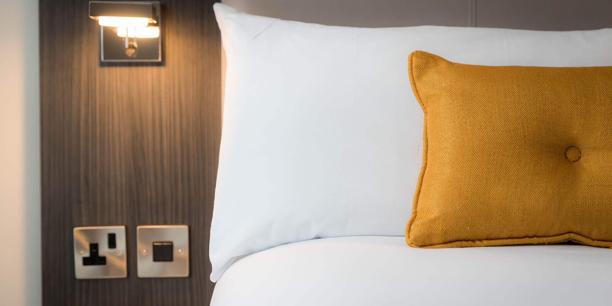 Pillows in the room at Maldron Belfast City